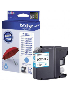 Cartuccia Originale Brother LC-225XLC (Ciano 1200 Pagine)