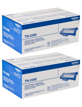 Toner Originale Brother TN-3390 (Nero 12000 pagine Conf. 2)
