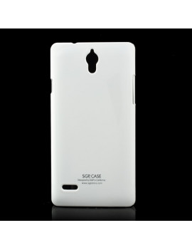 Cover in TPU Semirigida per Huawei Ascend G700 (Bianco)
