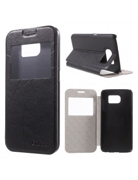 Cover Flip S-View in Ecopelle per Samsung Galaxy S6 G920 (Nero)