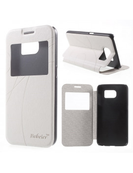 Cover Flip S-View in Ecopelle per Samsung Galaxy S6 G920 (Bianco)