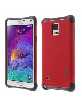 Cover Ibrida in TPU per Samsung Galaxy Note 4 N910 (Rosso)