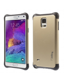 Cover Ibrida in TPU per Samsung Galaxy Note 4 N910 (Oro)