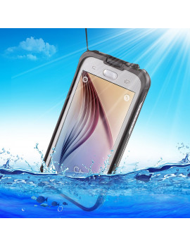 Cover RedPepper Impermeabile Waterproof Anti Urto per Samsung S6 G920 (Bianco)