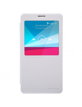 Cover Flip S-View Sparkle in Ecopelle per Samsung Galaxy Note 4 N910 (Bianco)
