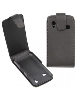 Cover Flip Verticale in Ecopelle per Samsung Galaxy Ace S5830 (Nero)