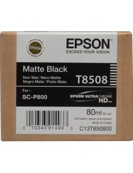 Cartuccia Originale Epson T850800 (Nero Opaco 80ml)