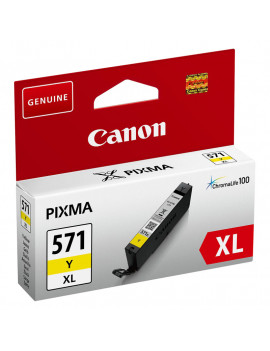 Cartuccia Originale Canon CLI-571y 0334C001 (Giallo XL 10,8 ml)