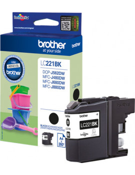 Cartuccia Originale Brother LC-221BK (Nero 260 pagine)