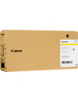 Cartuccia Originale Canon PFI-707y 9824B001 (Giallo 700 ml)