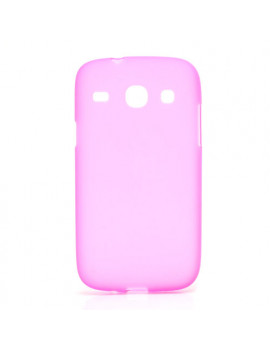 Cover in Silicone per Samsung Galaxy Core i8260 (Rosa)
