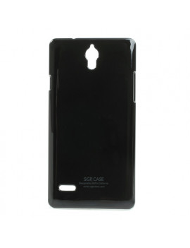 Cover in TPU Semirigida per Huawei Ascend G700 (Nero)