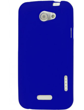 Cover in TPU Silicone Morbida per HTC One X S720e (Blu)