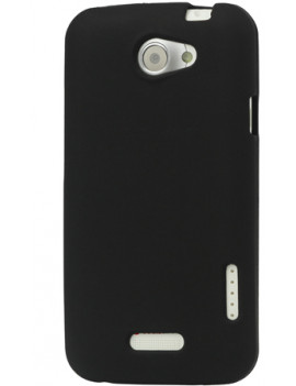 Cover in TPU Silicone Morbida per HTC One X S720e (Nero)