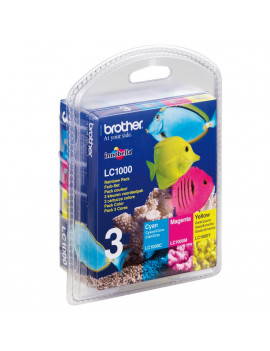 Multipack Cartucce Originali Brother LC-1000RBWBPDR (Conf. 3 Colori)