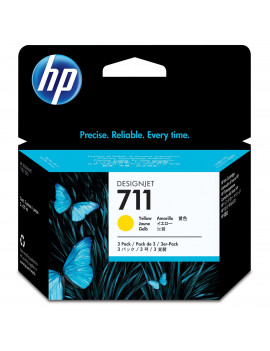 Cartuccia Originale HP CZ136A 711 (Giallo 29ml Conf. 3)