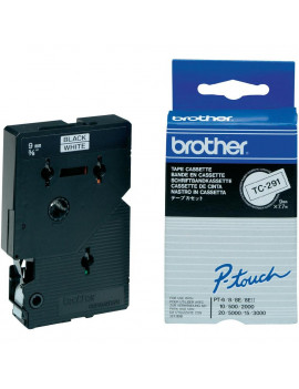 Nastro Originale Brother TC-291 (Nero/Bianco Laminato)