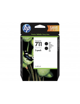 Cartuccia Originale HP CZ133A 711 (Nero 80 ml Conf. 2)