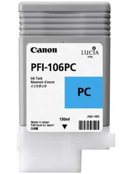 Cartuccia Originale Canon PFI-106pc 6625B001 (Ciano Foto 130 ml)