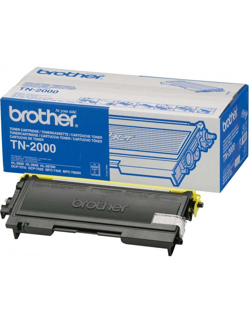 Toner Originale Brother TN-2000 (Nero 2500 pagine)