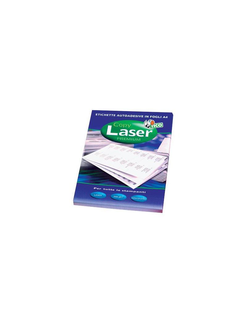 Etichette Adesive Copy Laser Premium Tico con Angoli Arrotondati - A4 - 63,5x38,1 mm - LP4W-6338 (Bianco Conf. 100)
