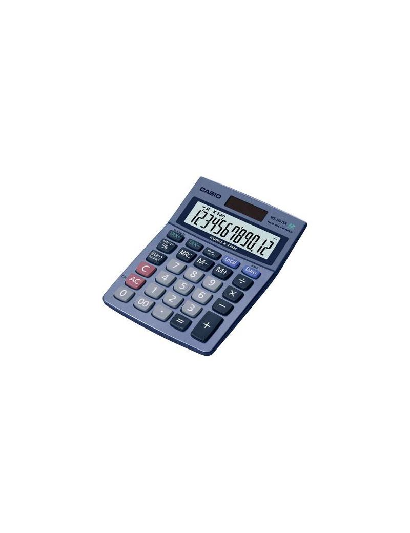 Calcolatrice da Tavolo Casio MS-120TER (Azzurro Metallizzato)