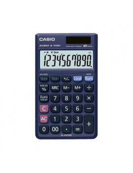 Calcolatrice Tascabile Casio SL-310TER+ (Blu Scuro)