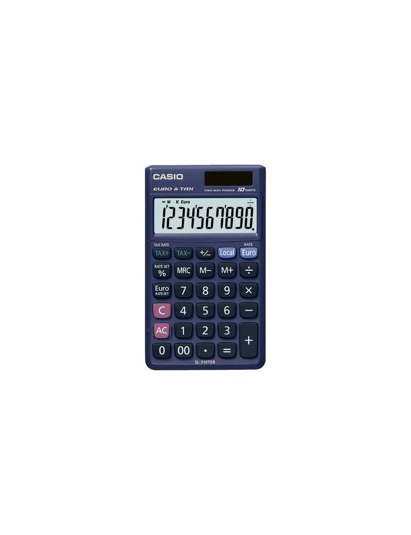 Calcolatrice Tascabile Casio SL-310TER+ (Blu Scuro)