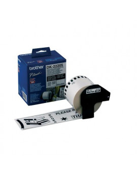 Nastro Originale Brother DK-22205 - 62 mm x 30,48 m - Carta (Nero su Bianco)