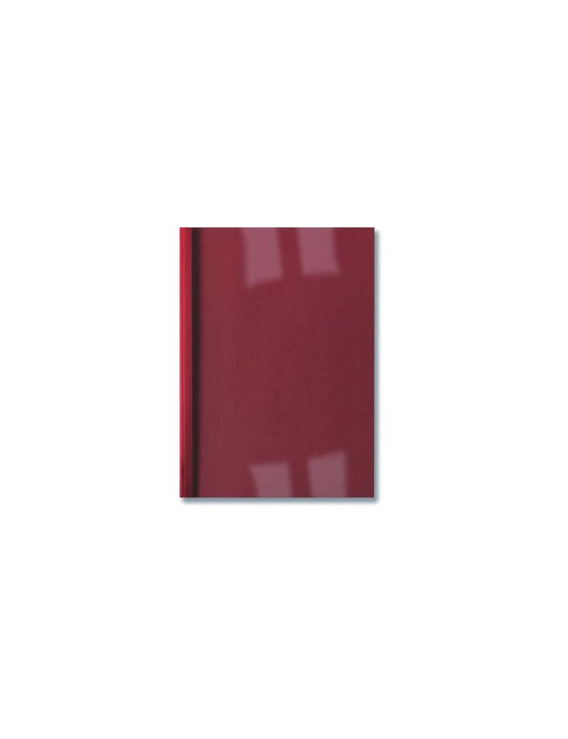 Cartelline Termiche per Rilegatura GBC - Goffrata - 3 mm - IB451218 (Trasparente e Rosso Conf. 100)