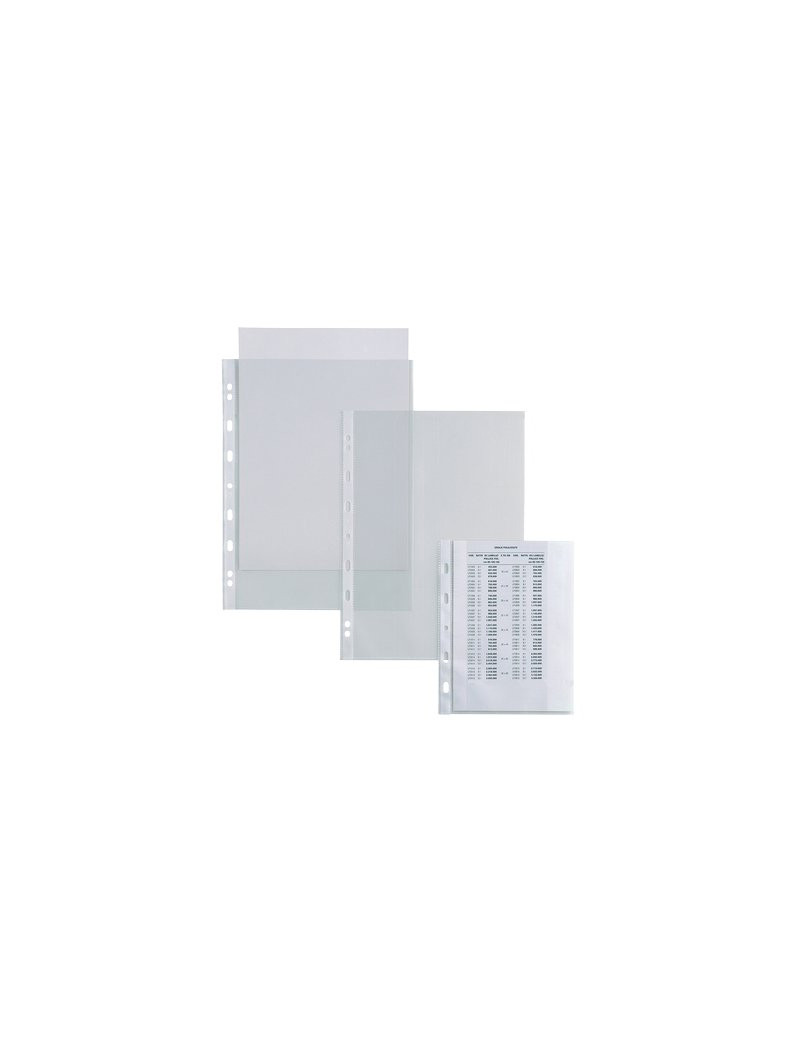 Busta a Perforazione Universale Atla T Sei Rota - 18x24 cm - Liscia Alto Spessore - 661817 (Trasparente Conf. 25)