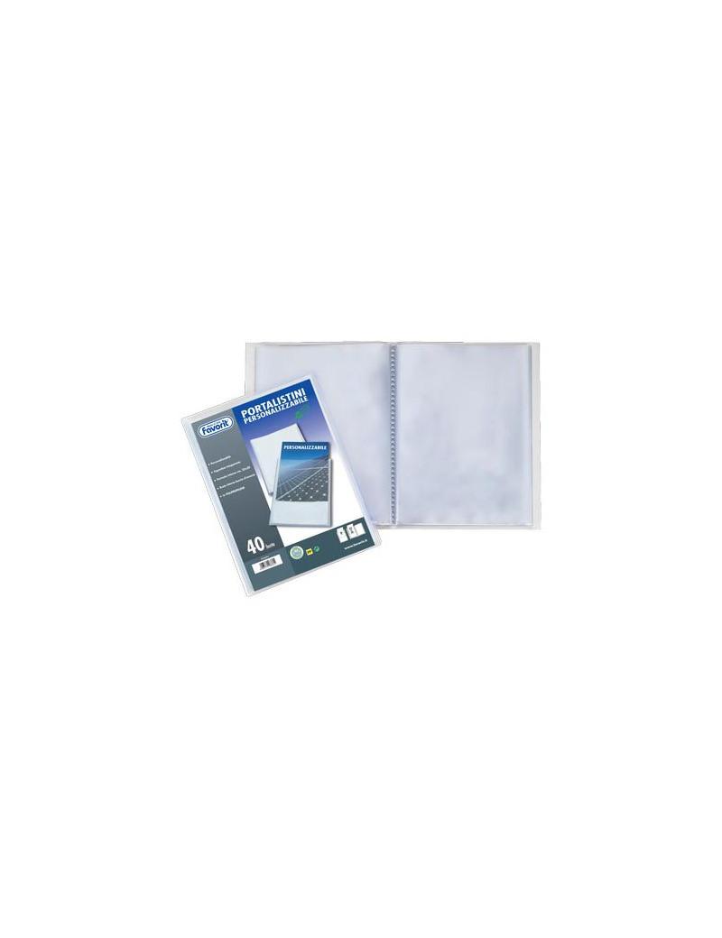 Portalistino Personalizzabile Sviluppo Favorit - 22x30 cm - 120 Buste - 100460334 (Trasparente)