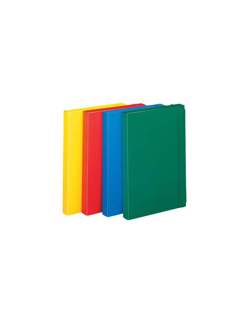 Cartella Portaprogetti con Elastico U140 Leonardi - Dorso 3 - 25x35 cm - U140-VE (Verde Conf. 10)