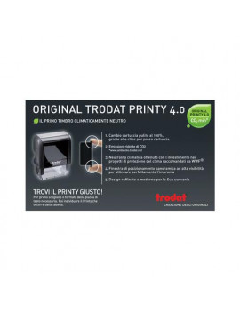 Timbro Autoinchiostrante Printy 4912 P 4.0 Trodat - 47x18 mm - 5 Righe