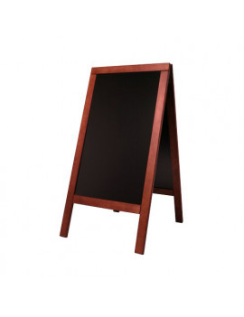 Lavagna Sandwich A-Board Securit - 75x135 cm - Mogano - SBS-M-135 (Nero)