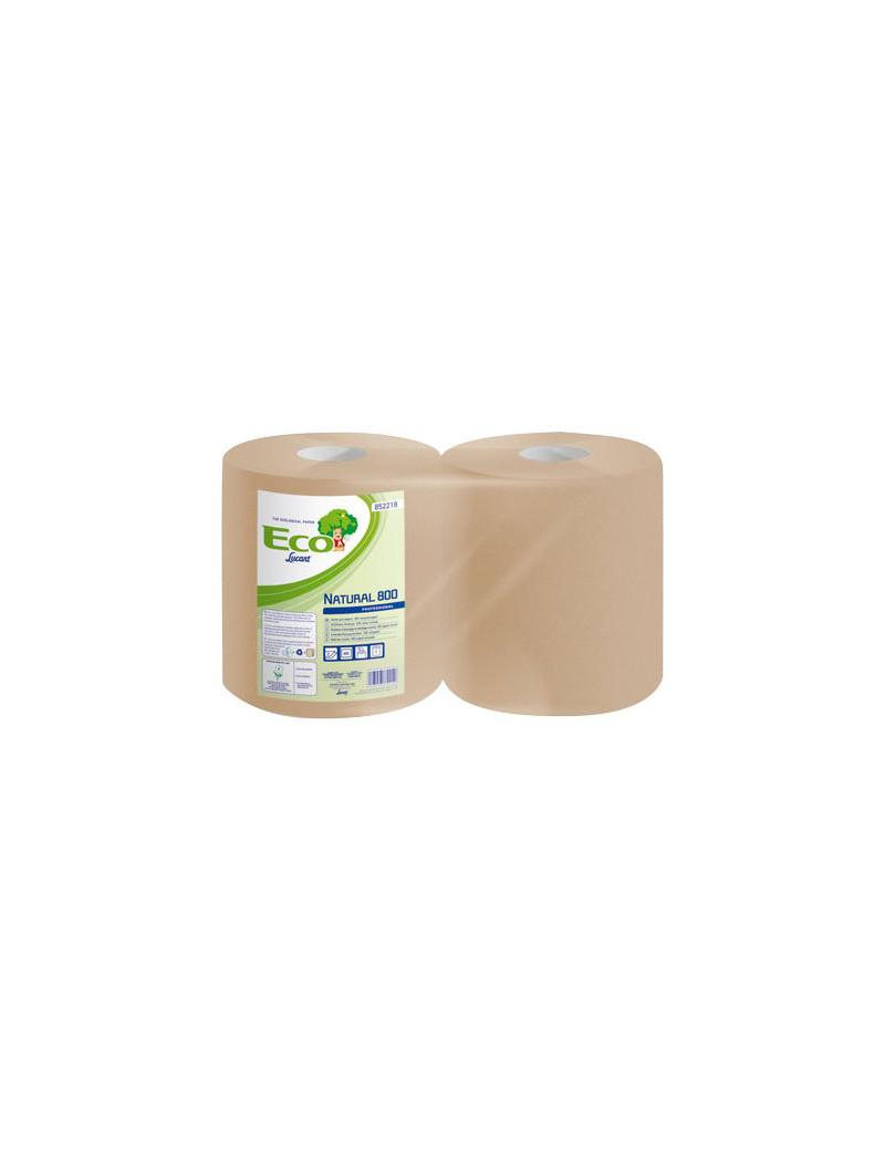 Asciugatutto Eco Natural Lucart - 2 Veli - 800 Strappi (Conf. 2)