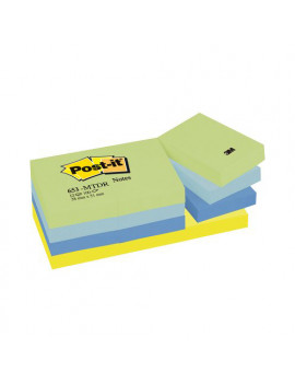 Post-it Note Dream 653-MTDR 3M - 38x51 mm - 67564 (Verde Giallo e Blu Conf. 12)