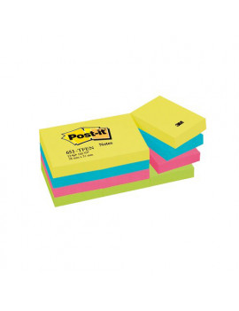 Post-it Note Energy 653-TFEN 3M - 38x51 mm - 67565 (Neon Arcobaleno Conf. 12)