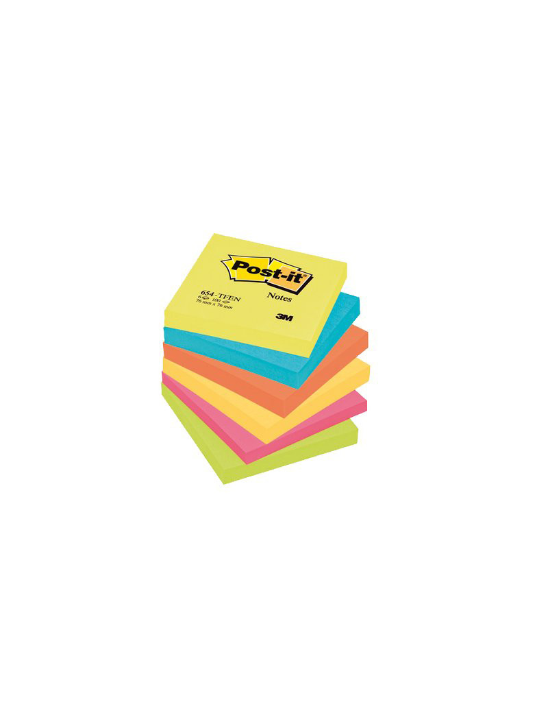 Post-it Note Energy 654-TFEN 3M - 76x76 mm - 67614 (Neon Arcobaleno Conf. 6)