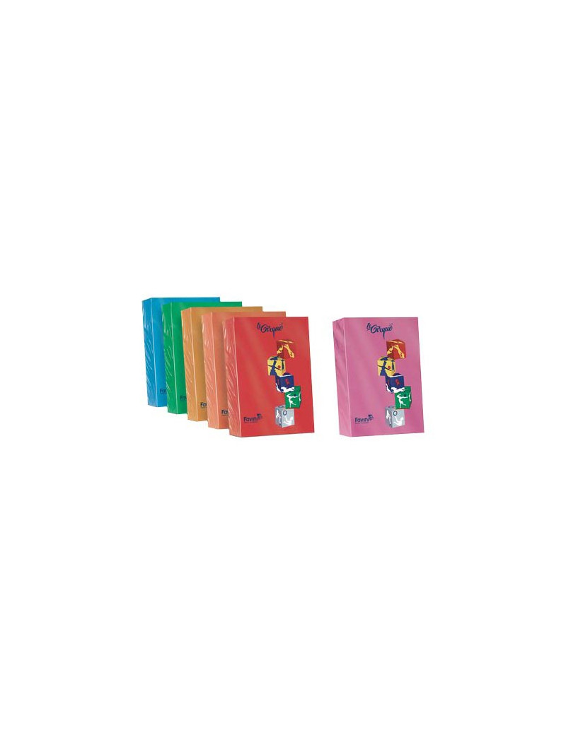 Carta Colorata Le Cirque Favini - A4 - 160 g - A74E304 (Arancio Forte Conf. 250)