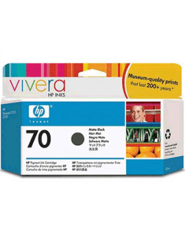 Cartuccia Originale HP C9448A 70 (Nero Opaco 130 ml)