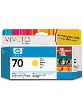 Cartuccia Originale HP C9454A 70 (Giallo 130 ml)