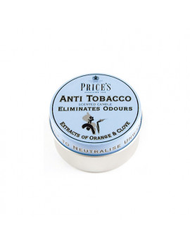 Candela in Lattina Price's - Fresh Air - Anti Tobacco (Orange & Clove)