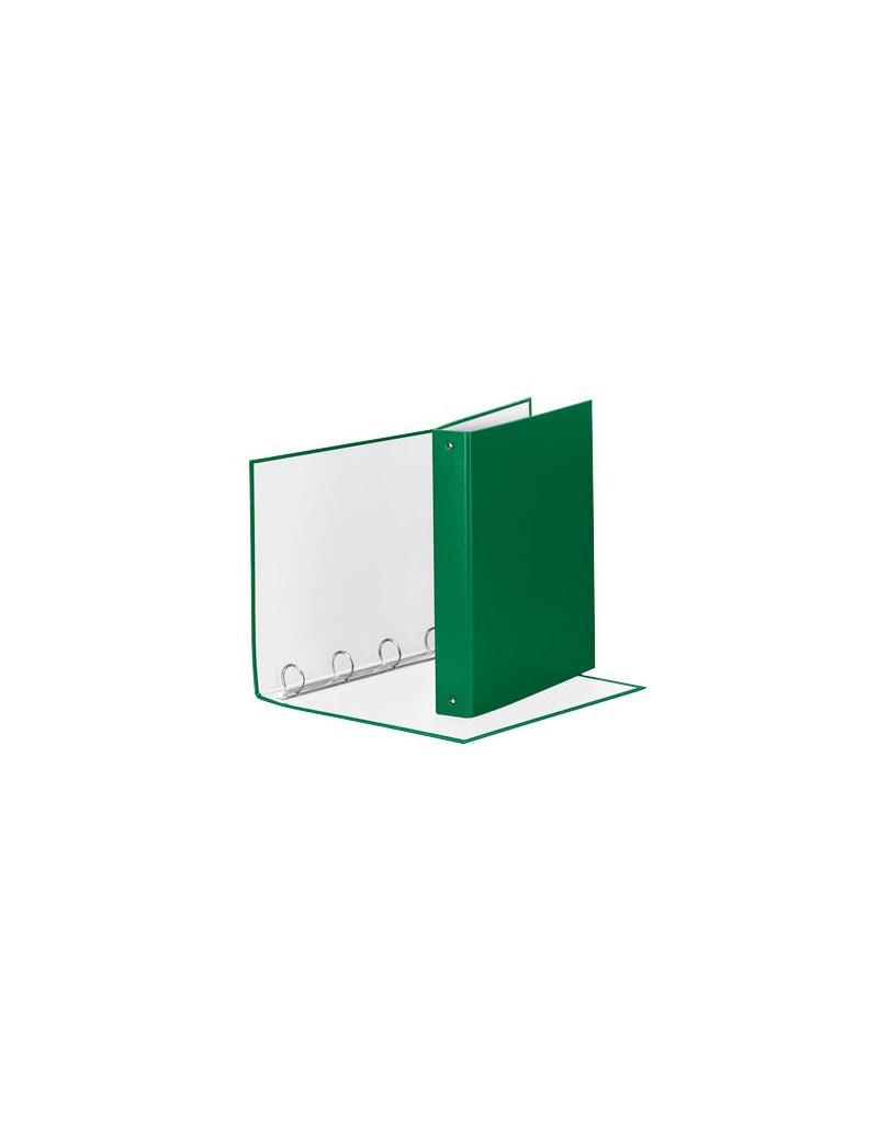 Raccoglitore Meeting Esselte - A4 Maxi - 4 Anelli Tondi Ø30 mm - Dorso 4 cm - 395792600 (Verde)