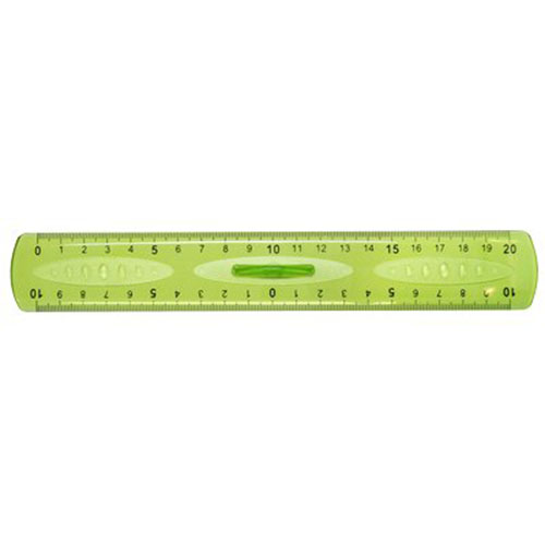 Doppiodecimetro-Elastika-Arda-20-cm-EL20P-Verde-Trasparente-Conf-10