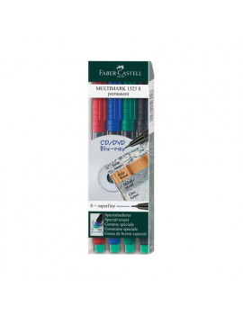 Marcatore Permanente Multimark Faber Castell - 1,0 mm - 152504 (Assortiti Conf. 4)