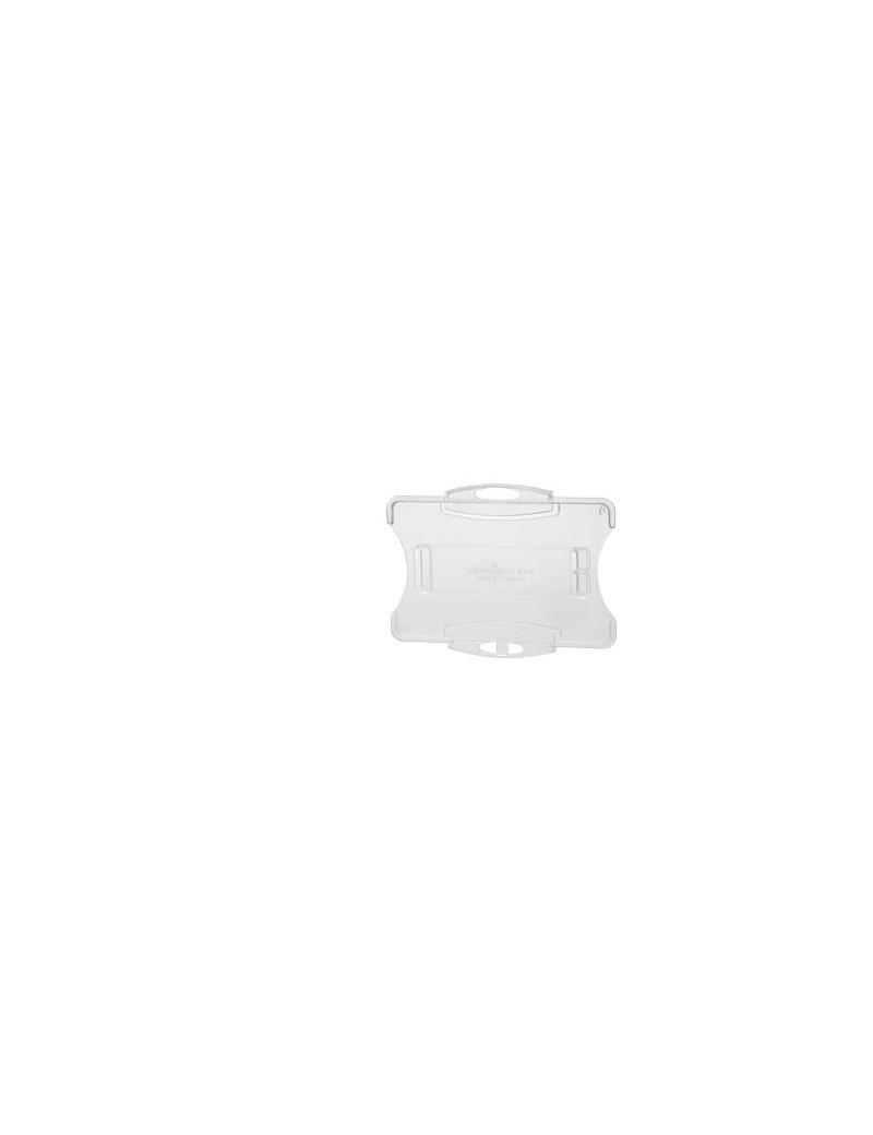 Portabadge Rigido Aperto Durable - Senza Clip - 5,4x8,5 cm (Conf. 10)