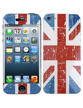 Screen Protector Adesivo Fronte e Retro Bandiera U.K. per iPhone 5