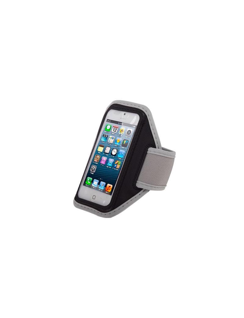Fascia da Braccio Sportiva Armband per iPhone 4 4S 5 5S (Grigio)