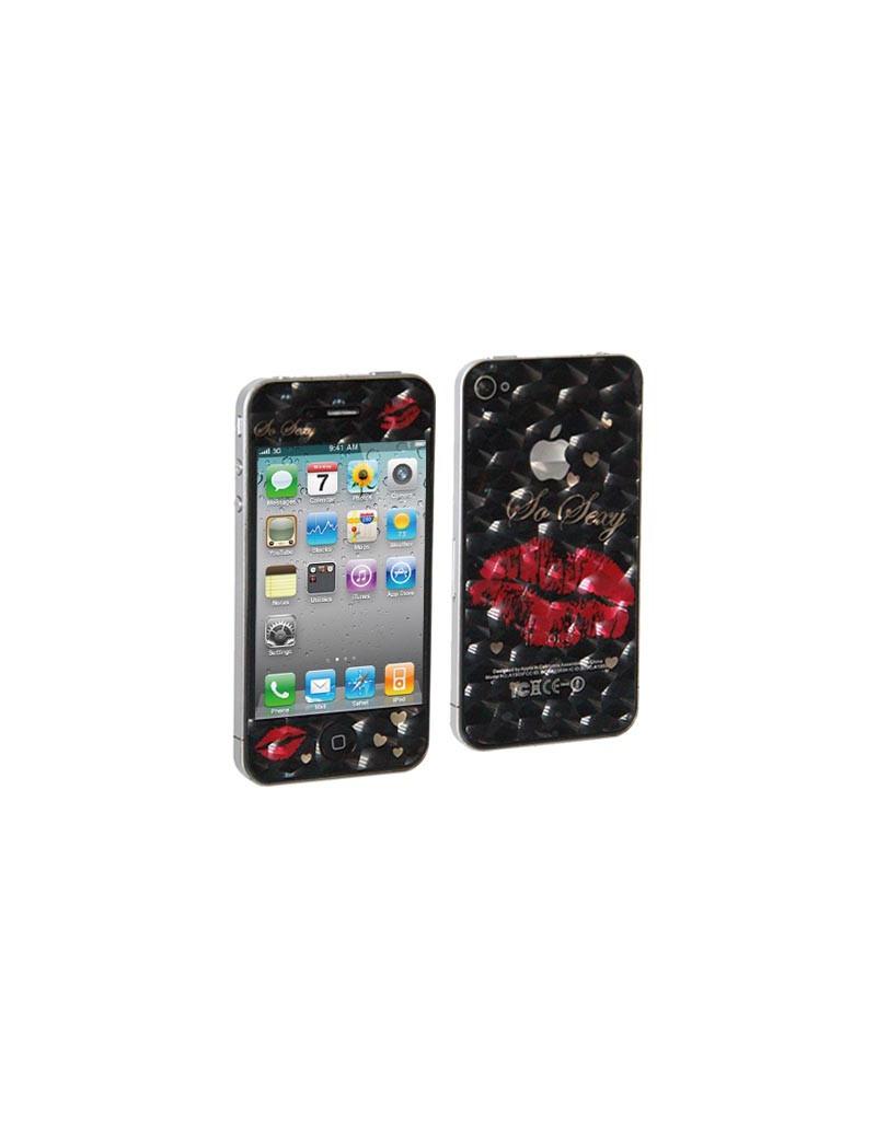 Screen Protector Adesivo Fronte e Retro Bacio per iPhone 4 4S